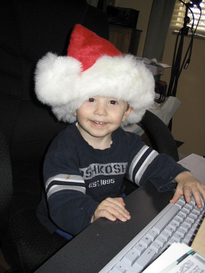 Xander emails his list to Santa
